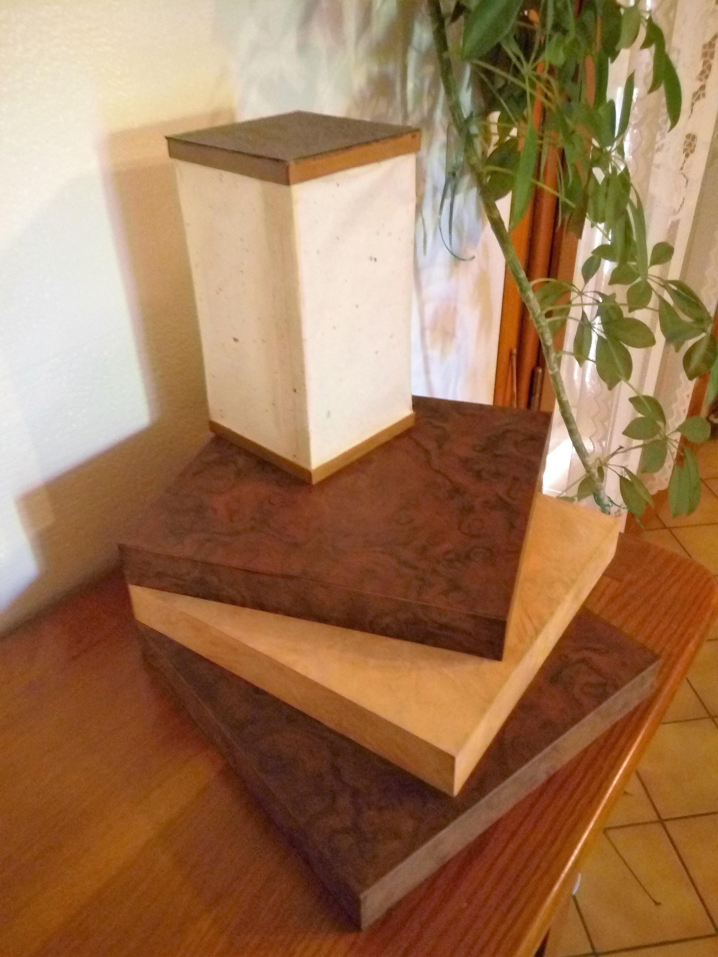 Lampe (loupe d'érable, papier japonais)
